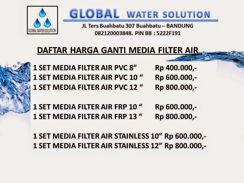 HARGA PERGANTIAN MEDIA FILTER AIR