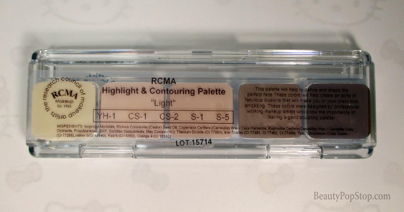 rcma highlight and contour palette review