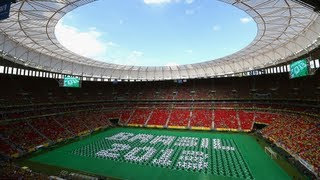 Copa das Confederações Brasil 2013 Cerimônia de abertura estadio