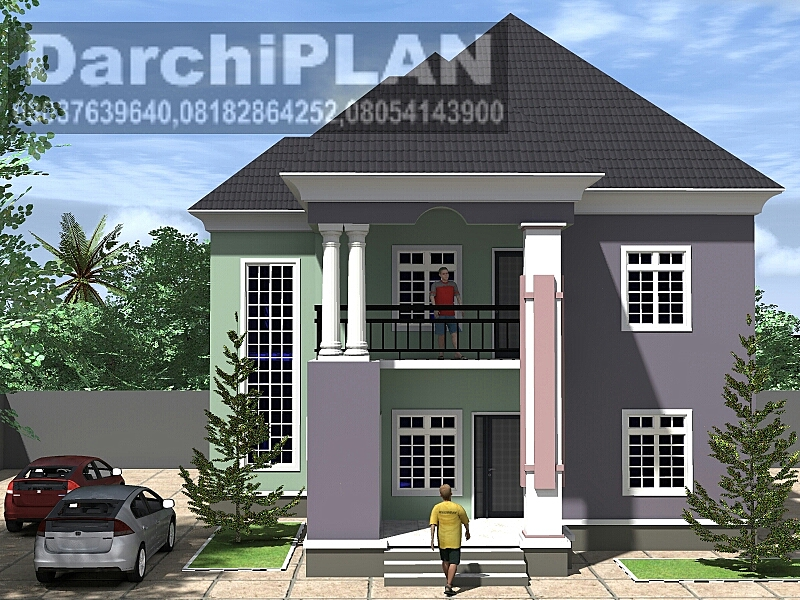 Architectural Design Of A 5 Bedroom Duplex