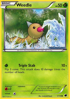 Weedle Plasma Freeze Pokemon Card