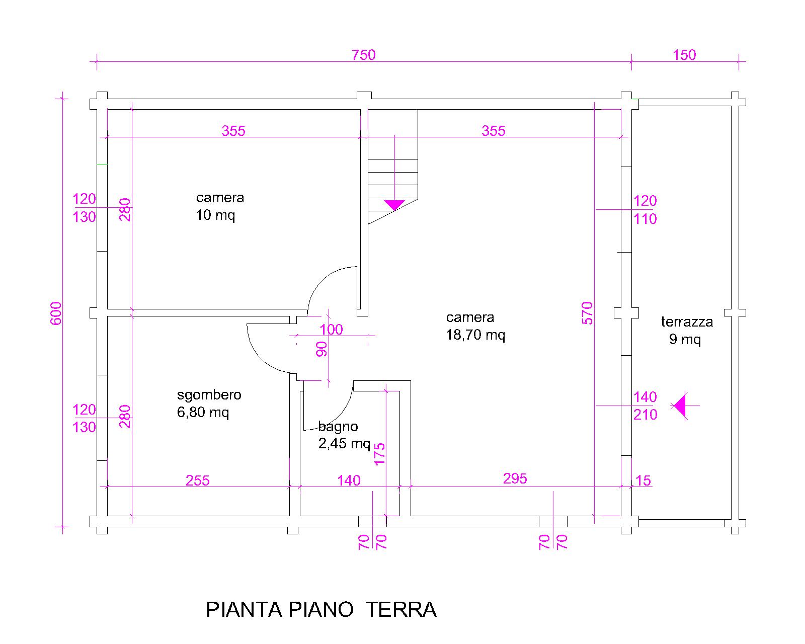 Progetti di case in legno casa 90 mq for Progetto casa 75 mq