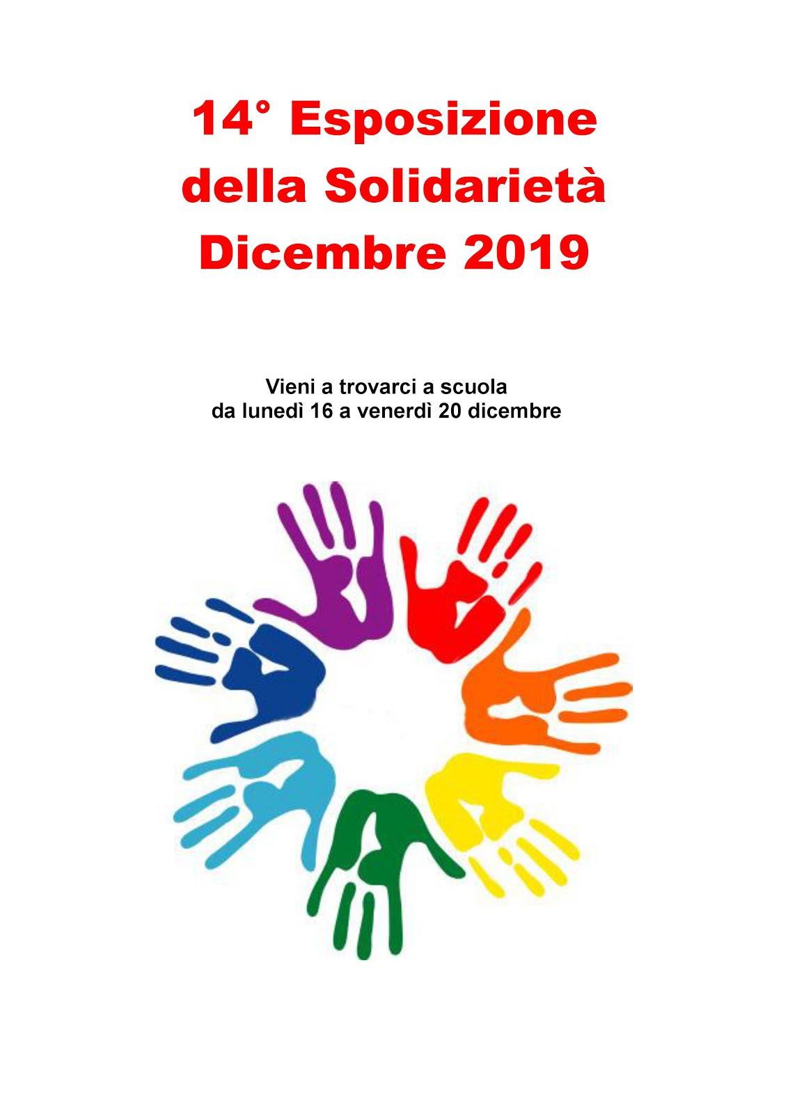 ESPOSIZIONE DELLA SOLIDARIETA' 2019