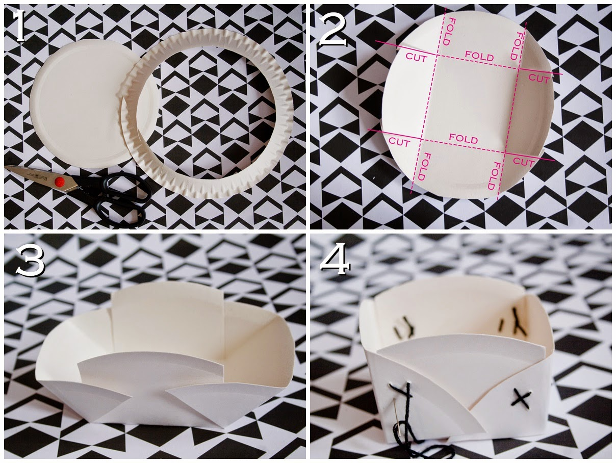 I really like the simple classiness of my paper plate baskets. In case you like it too hereu0027s what youu0027ll need paper plates scissors embroidery thread ... & Curious and Catcat: DIY: Easy Paper Plate Baskets