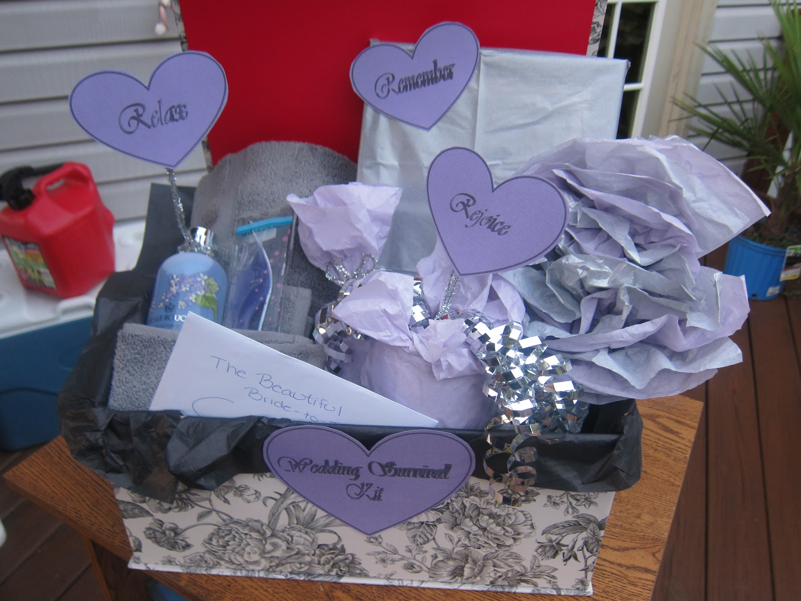 Wedding Shower Gift For My Best Friend : The gift was a big hit at the party, people asked me if I had made the ...