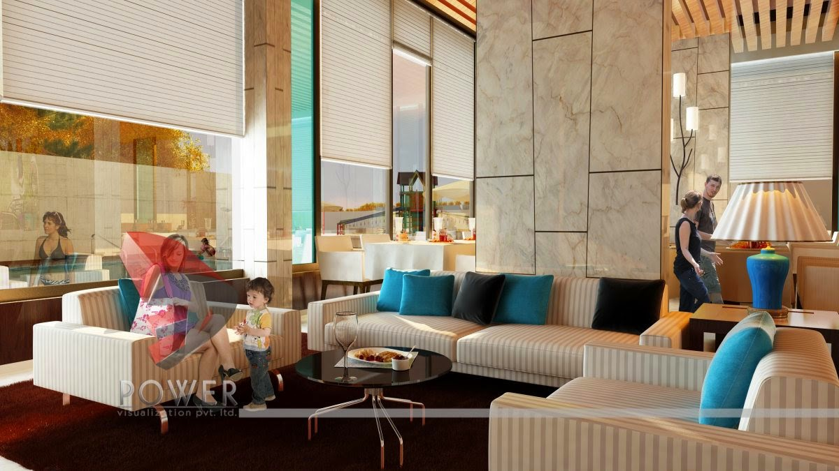 Old Age Home Interior Perspective Rendering In 3D