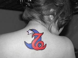 Capricorn Tattoo Design on Upper back