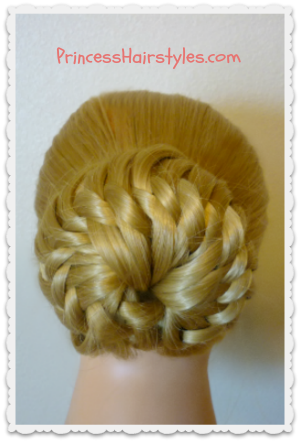 Star Flower Bun Prom Hairstyle