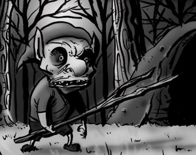 Artist's rendition of a Pukwudgie, thought to haunt the forests of New England