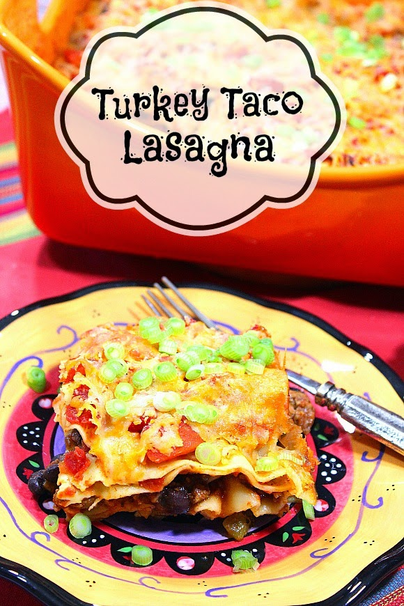 Healthy Turkey Taco Lasagna Recipe - Kudos Kitchen by Renee