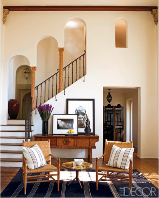 Classic 1920's Spanish-style home in Hollywood Hills of Ellen Pompeo,  featured in Elle Decor 2010, as designed by LA designer and Million Dollar  Decorator, ...