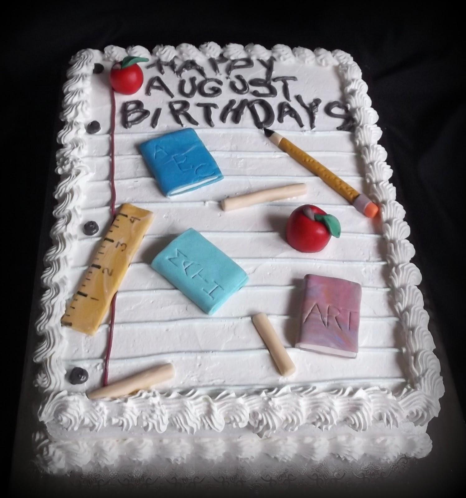 Ks Cakes August Birthdays Cake For An Office