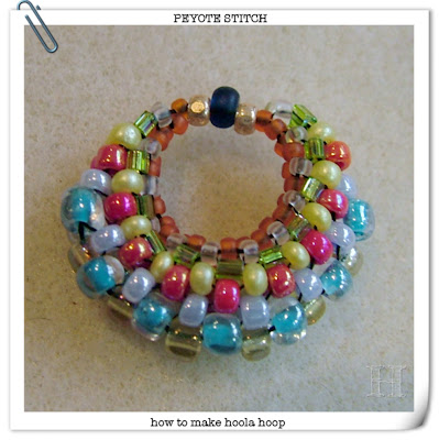 how to make hoola hoop circles in peyote stitch