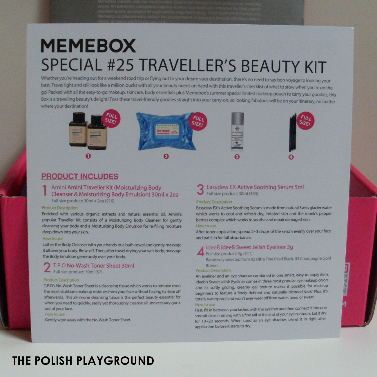 Memebox Special #25 Traveler's Beauty Kit Unboxing