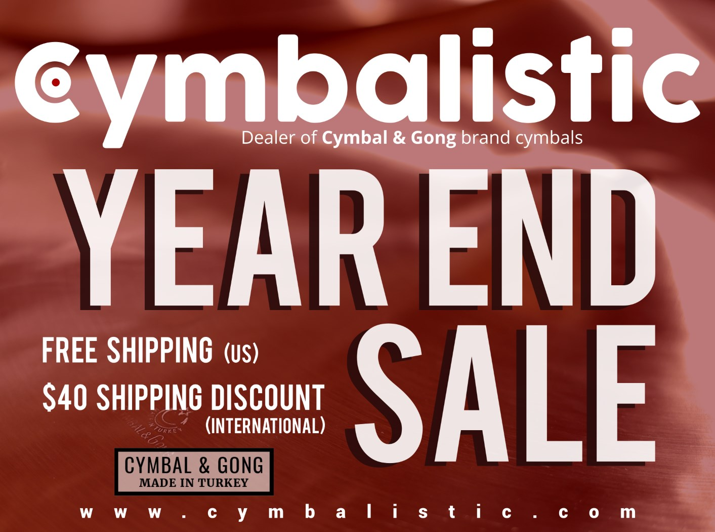 Year end sale on Cymbal & Gong cymbals!