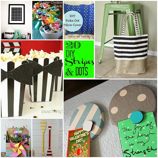 20 Beautiful DIY Dots and Stripes Ideas