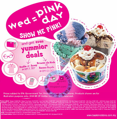Wednesday is Pink Day @ Baskin Robbins