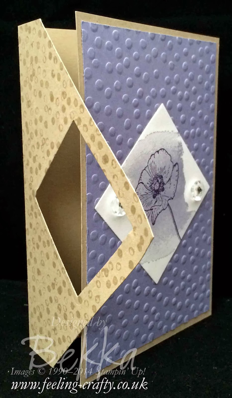 Happy Watercolor Fancy Fold Card by UK bases Stampin' Up! Demonstrator Bekka Prideaux - check out her blog for lots of great ideas