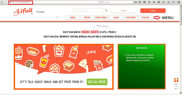 halaman utama www.lifull-produk.id