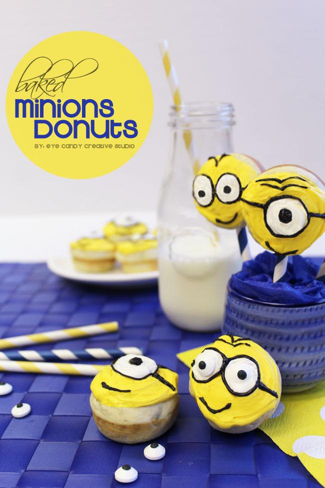 baked donut recipe, Minions, MinionsMovieNight, family movie night