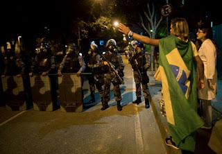 100,000 Expected To Protest Ahead Of Brazil Semi Final