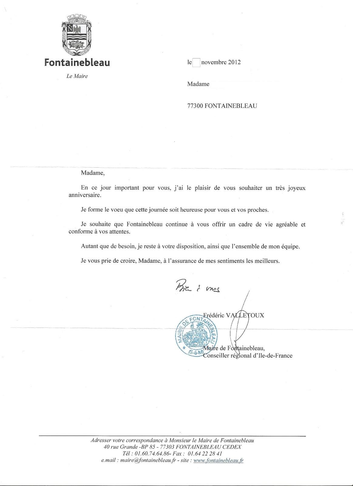 Super Monique Fournier: Le Maire vous souhaite un bon anniversaire,  GZ51