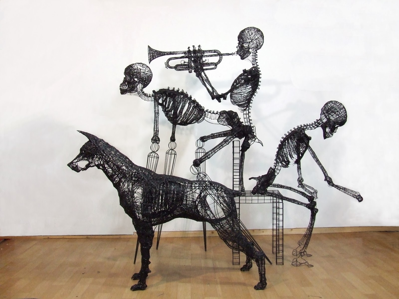 Yong won song incredible thread and wire sculptures by