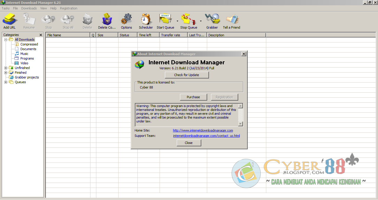 Internet Download Manager 6.21 Build 2 Full Version + Patch