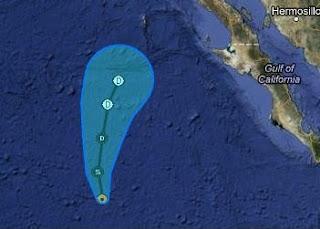 Tropischer Sturm FABIO nähert sich Baja California - Gefahrenpotenzial nur sehr gering, Fabio, Hurrikansaison 2012, aktuell, Pazifische Hurrikansaison, Mexiko, Baja California, Satellitenbild Satellitenbilder, Vorhersage Forecast Prognose, Juli, 2012,