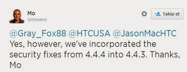 HTC One M8 İçin Android 4.4.3 Güncellemesi
