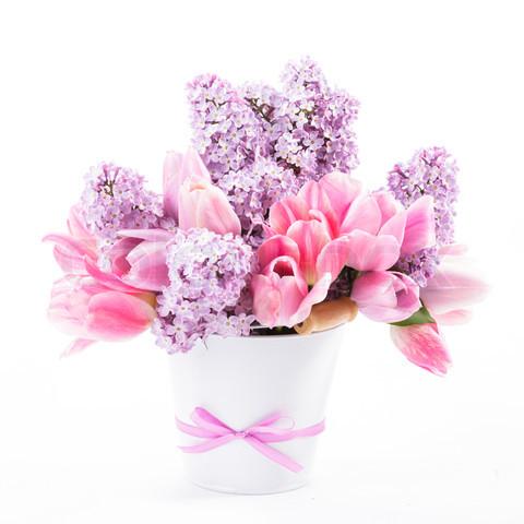 сирень тюльпаны букет