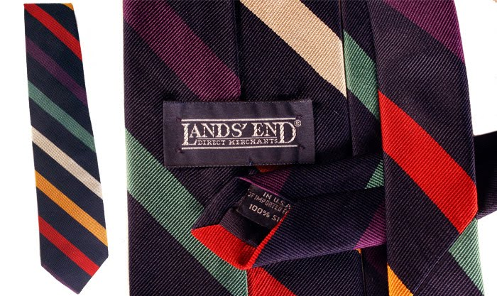 Lands End stripe tie