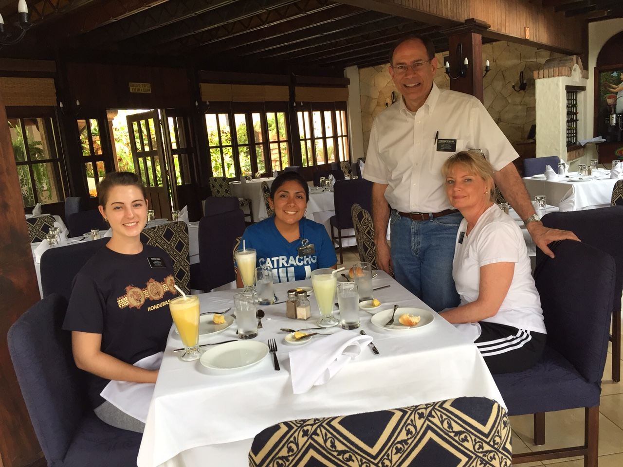 Lunch with Pres & Sis Dester in Copan!