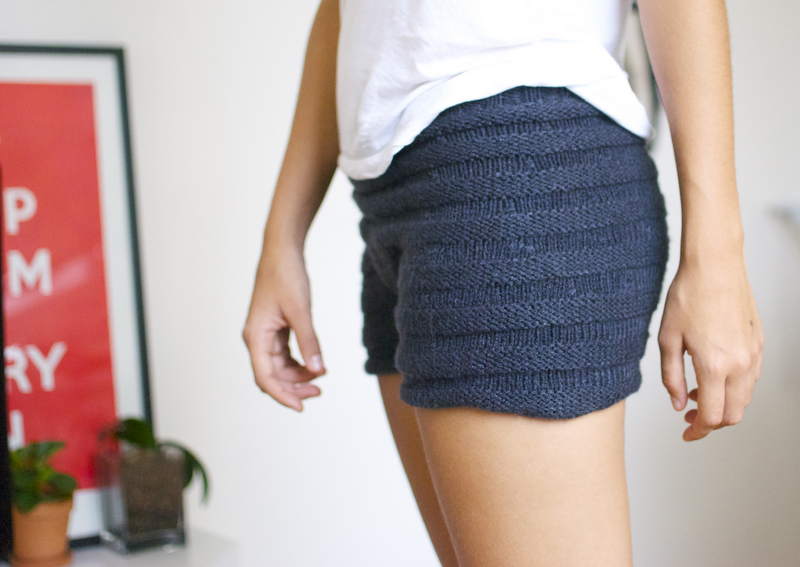 Knit Shorts Pattern : DIY Stolen Girlfriends Inspired Knitted Shorts A Pair & A Spare