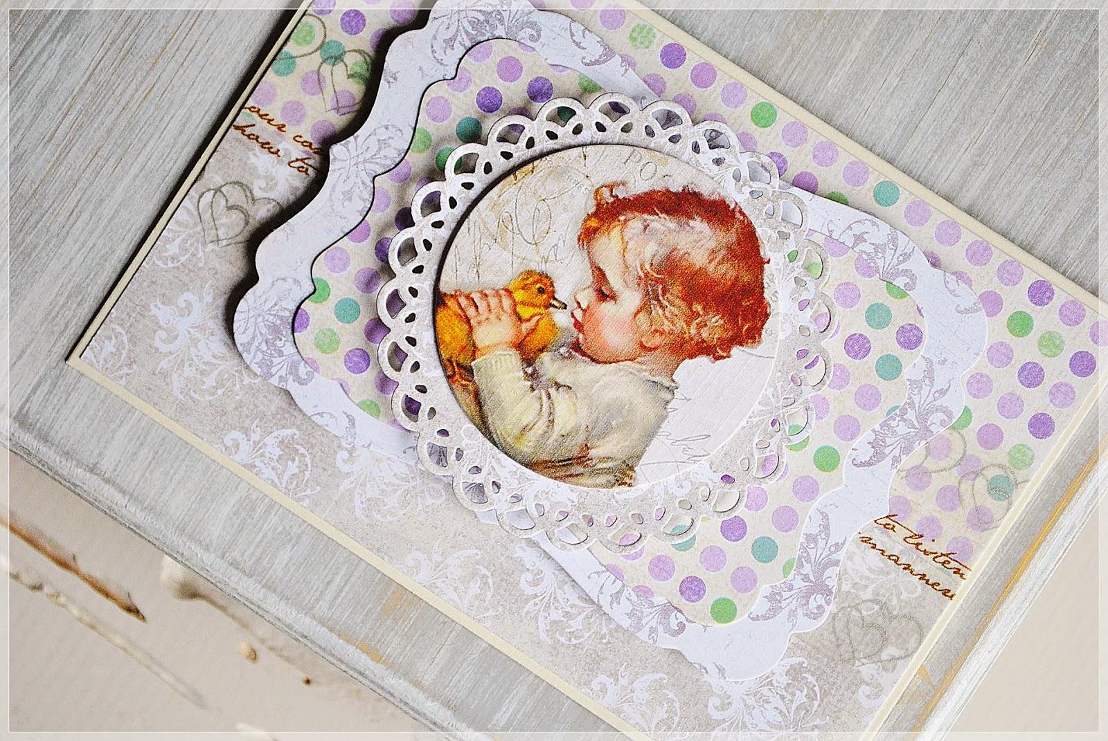 kartka dla dziecka scrapbooking