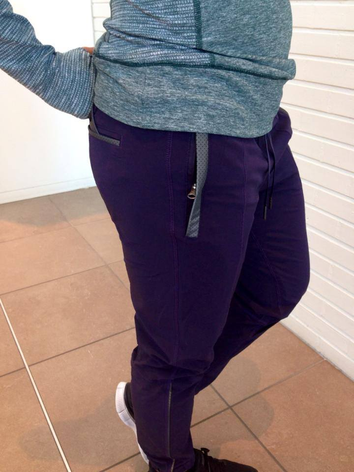 lululemon black grape track to reality pant