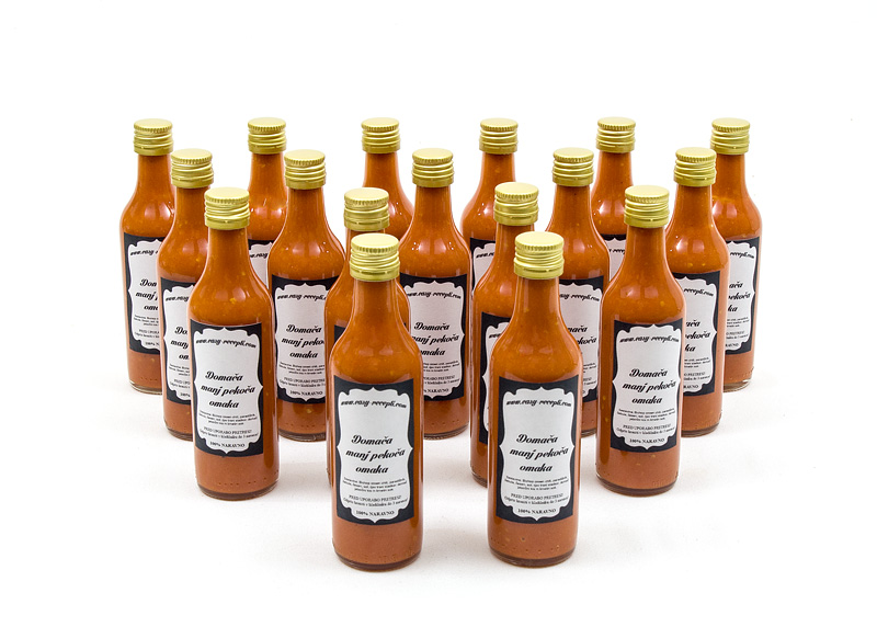 Homemade chili sauce - mild hot all front