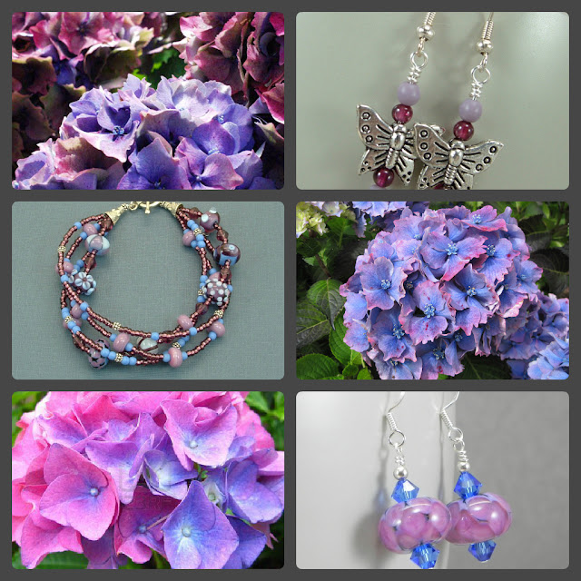Jewelry inspired by nature; Hydrangeas