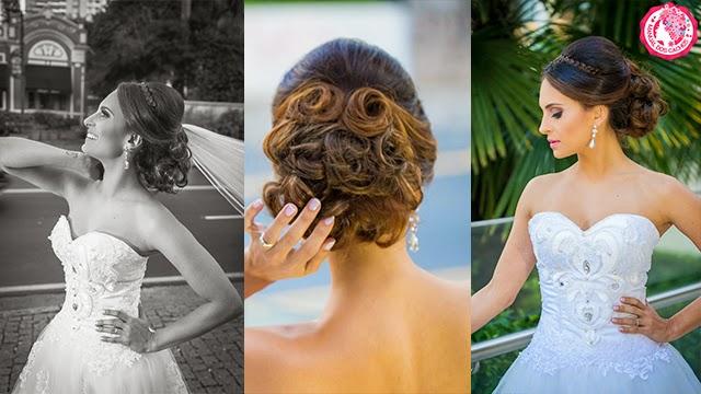 Penteado para noiva com aplique HairDo