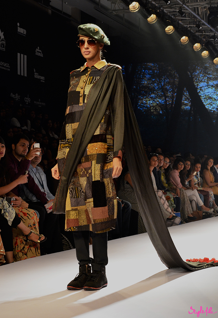 Mayank & Shraddha showcase their latest winter festive collection with military chic inpired designer wear at Lakme Fashion Week held at St. Regis, Mumbai