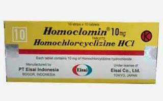 Komposisi Dosis dan Harga Homoclomin (Homoklorsiklisin hidroklorida)