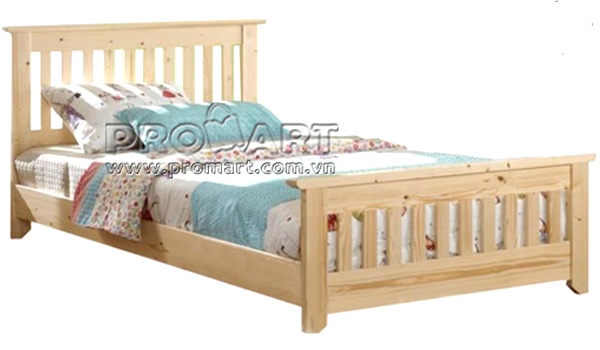Giường đơn gỗ thông New Zealand 1.2m x 2m