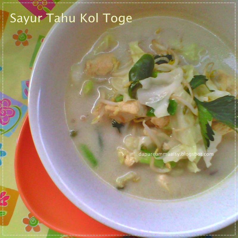 Dapur Kreasiku Nugget Tahu: La Cuisine De Lia : Sayur Tahu Kol Toge