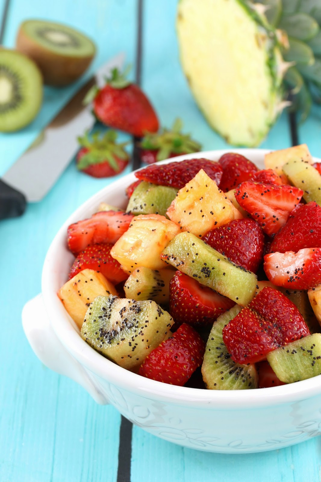 ... Stay At Home Chef: Triple Fruit Salad with Lemon-Poppy Seed Dressing