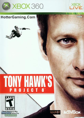 Free Download Tony Hawk's Project 8 Xbox 360 Game Cover Photo