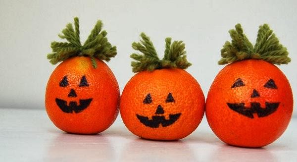 Abóbora de Halloween de Laranja