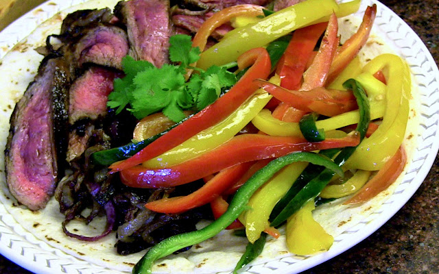 skirt steak fajitas for Cinco de Mayo