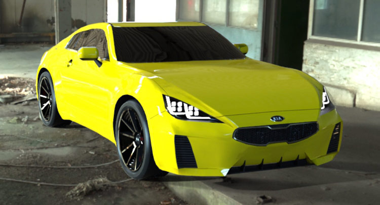Kia GT4 Coupe Rendered in Production Clothing as Toyota GT 86 Fighter