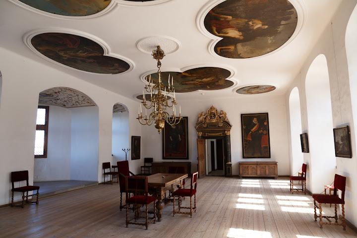 クロンボー城にの超える王の間の天井画