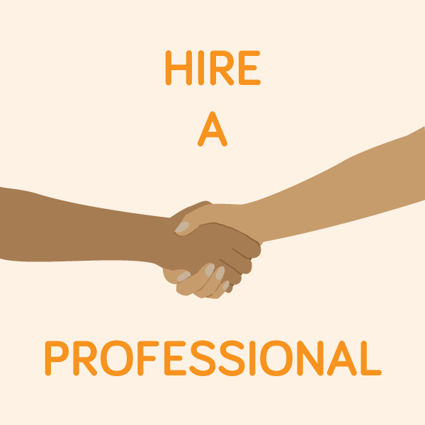 Hire a professional to ensure that your content marketing always looks great and reads well.